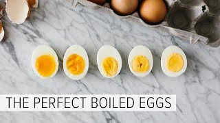PERFECT BOILED EGGS (EVERY TIME) | hard boiled eggs + soft boiled eggs