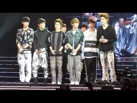 120929 SS4 INA - EXO-M Ending talk + Water splashing