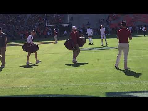 WATCH: QB Mac Jones, Alabama in pregame for Iron Bowl