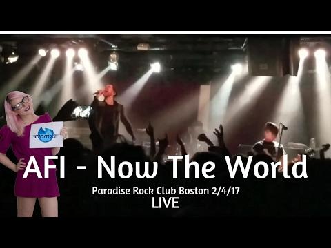 AFI - Now The World Live Paradise Rock Club Boston 2/4/17