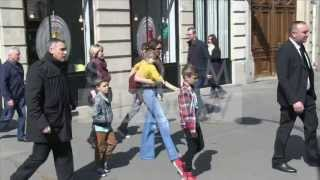 EXCLUSIVE: Victoria Beckham and the kids go to BonTon in Paris