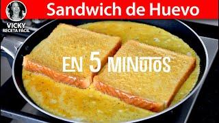 Sandwich de Huevo en 5 Minutos | #VickyRecetaFacil