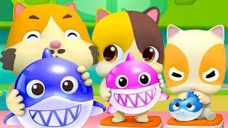 Balloon Song - Baby Shark | Colors Song | Nursery Rhymes | Kids Songs | Kids Cartoon | BabyBus