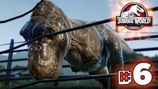 T.REX TESTS THE FENCES!!! - Jurassic World Evolution - JURASSIC MODE | Ep6 HD