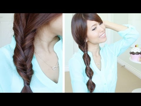 Faux Braid Hairstyles In Under A Minute For Medium Long Hair Tutorial - Smashpipe Style