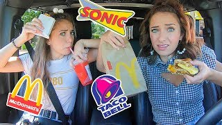 Letting The Person In Front of Us Decide What We Eat for 24 Hours | Drive Thru Challenge