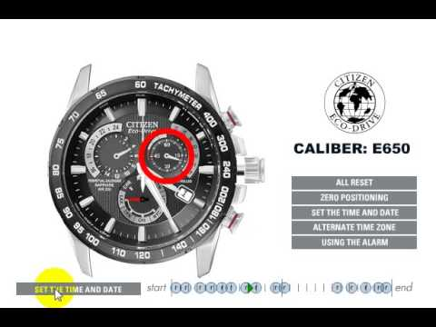 Official Citizen E650 Setting Instruction Videomoviles