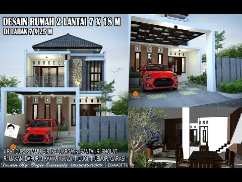 desain rumah 7 x 12 2 lantai - desain rumah indonesia
