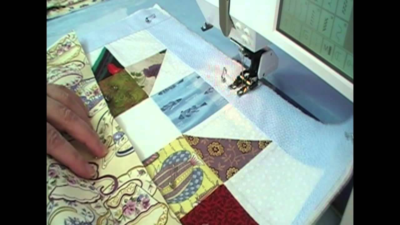 Machine Quilting Scrappy Blocks Quilt As You Go Youtube