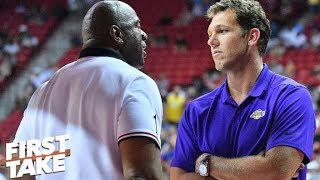 Luke Walton on the hot seat after LeBron, Lakers lose again in 4th quarter- Stephen A. | First Take