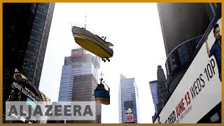 🇺🇸 Art exhibit shows New York's Times Square submerged in water | Al Jazeera English