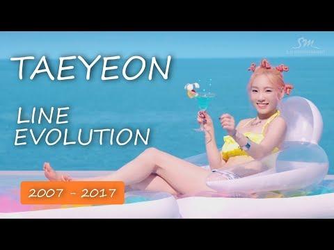 TAEYEON (SNSD) - LINE EVOLUTION [2007-2017]