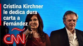 Esto dice la carta de Cristina Kirchner a Alberto Fernández y sus funcionarios