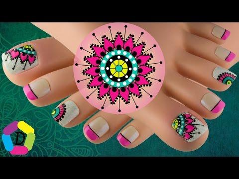 Mandala Decoración De Uñas Para Pies Fácil Videomovilescom