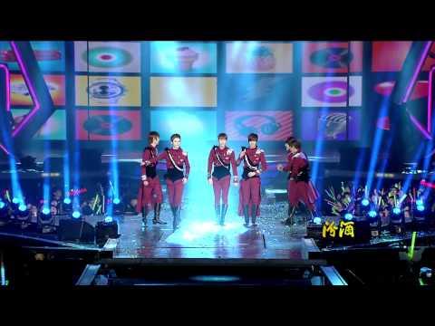 121231 Jiangsu TV New Year's Eve Concert - BOYFRIEND - Intro + Janus + Don't Touch My Girl