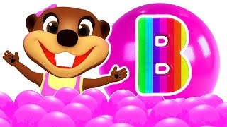 ABC Baby Finger Family Songs Surprise   Play Doh Alphabet, Learn Colors Shapes Toys, Busy Beavers