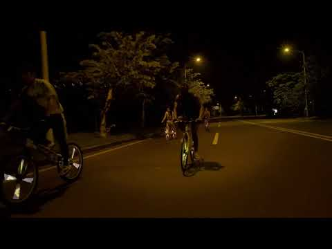 video Bike Spoke Lights SWAGLIGHT w/Mobile App and Theft Alarm