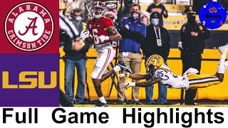#1 Alabama vs LSU Highlights | College Football Week 14 | 2020 College Football Highlights