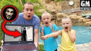 Game Master Hacks Our House! Caught On Camera at Smart Mansion!!!