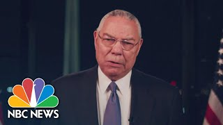 Watch Colin Powell's Full Speech At The 2020 DNC | NBC News