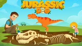 Fun Jurassic Dig Kids Games - Kids Find Dinosaur Bones With archaeologist - Kids Learning Game