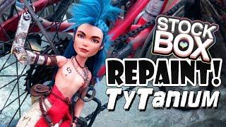 STOCK BOX Repaint! Ty Tanium Steampunk Monster High Doll OOAK Custom