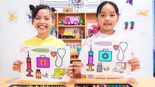 Rainbow Doctor Play Set, Warna Warni Belajar Menggambar dan Mewarnai untuk Anak