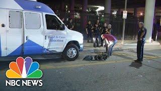 Man Tries To Carjack Houston News Van Before Stealing Police Car | NBC News