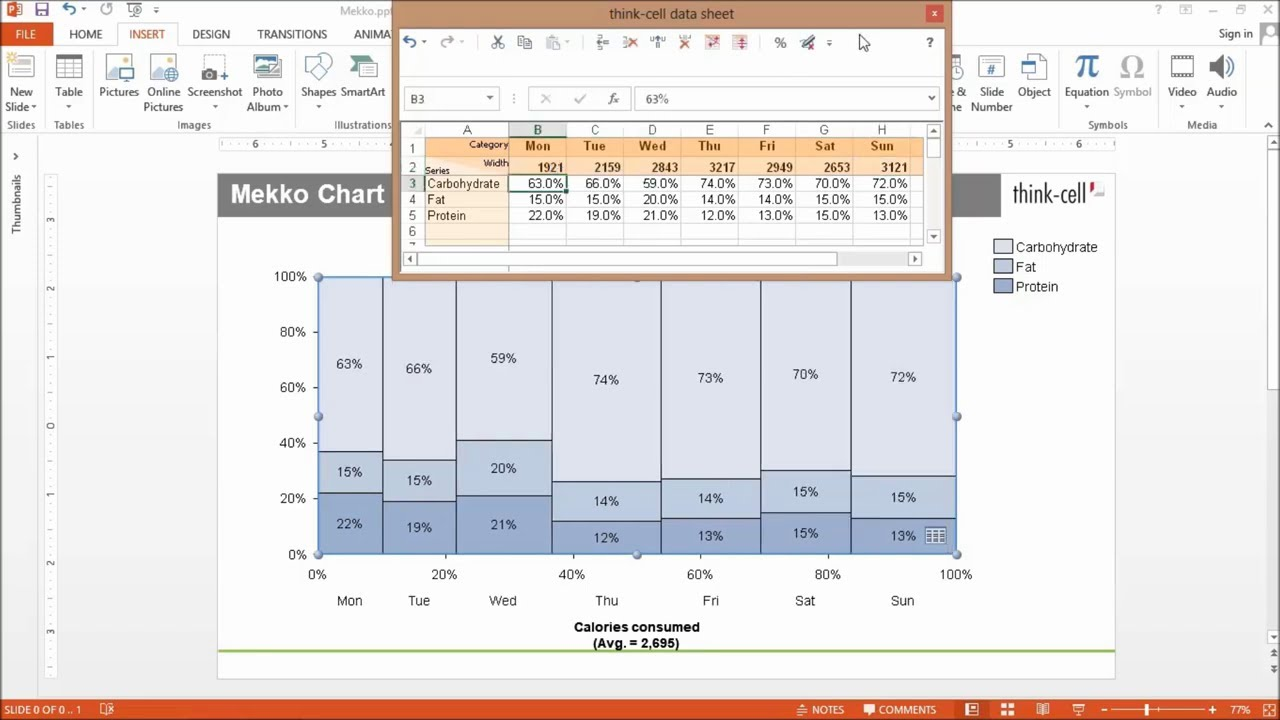 Features charting excel data links and slide layout think cell ccuart Choice Image