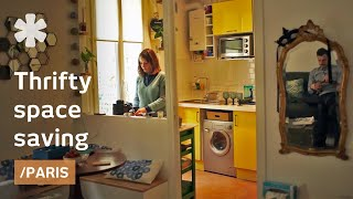 Paris microflat gets precise in space use with thrifty ideas
