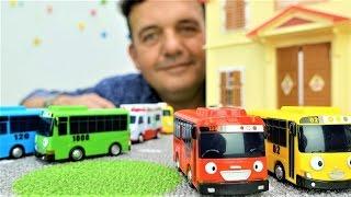 Vídeo de juguetes Autobuses Tayo. Coches para Niños