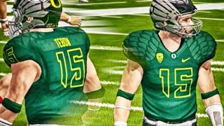NCAA 14 Ultimate Team Gameplay - TIM TEBOW SHINES IN THRILLER!
