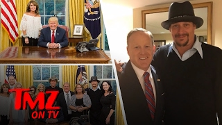 Sarah Palin, Ted Nugent, And Kid Rock Go To The White House! | TMZ TV