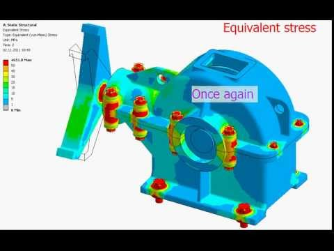 Gearbox FEA simulation