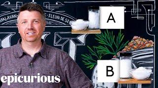 Salt Expert Guesses Cheap vs Expensive Salt | Price Points | Epicurious