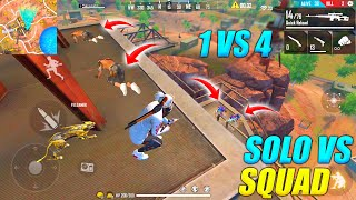 Solo vs Squad Unbelievable Gameplay With Mp40 + M82B | 1 vs 4 Free Fire | Garena Free Fire PK GAMERS
