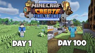 I Survived 100 Days in Minecraft Create Mod