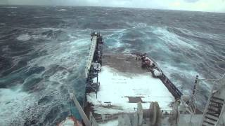 Sailing on the North Atlantic Ocean during Winter