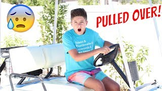WE GOT PULLED OVER ON OUR GOLF CART! | Brock and Boston