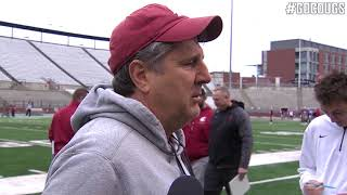 Mike Leach after practice 4/3