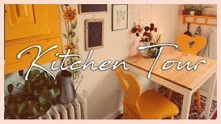 70's inspired kitchen tour
