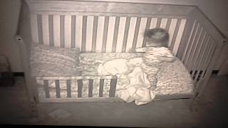 Bri's first night in her toddler bed