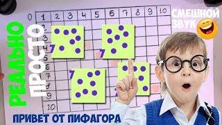 Как выучить таблицу умножения ЛЕГКО (обычный голос) - таблица Пифагора