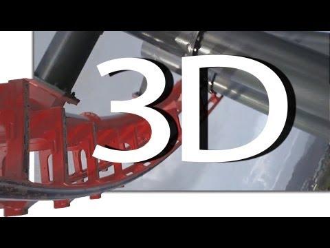 X2 (3D On-Ride) Six Flags Magic Mountain