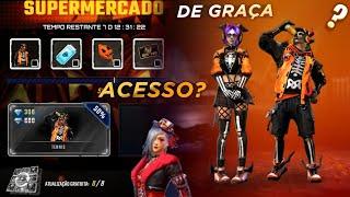 AMANHÃ!! EVENTO DE HALLOWEEN COM SKINS DE GRAÇA, SUPERMERCADO 8.0 ACESSO? E NOVA CAIXA - FREE FIRE