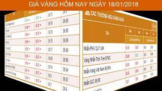 GIÁ VÀNG HÔM NAY NGÀY 18/01/2018 - Vàng SJC  - PNJ - DOJI - Vàng GOLD - vàng thế giới -vàng 9999