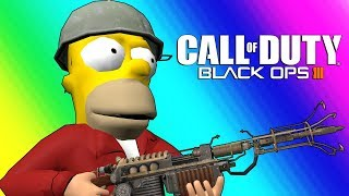 Black Ops 3 Zombies Funny Moments - Futurama Map!