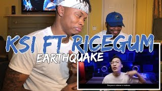 KSI ft Ricegum - Earthquake (Official Music Video) - REACTION