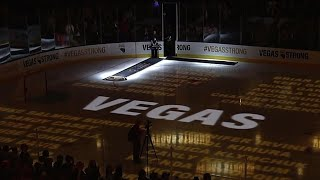 Vegas Golden Knights hold 58 seconds of silence for lives lost on October 1st
