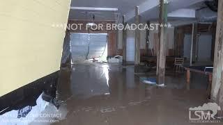 North Topsail Beach, NC Hurricane Florence huge waves and surge crash through home knock down wall